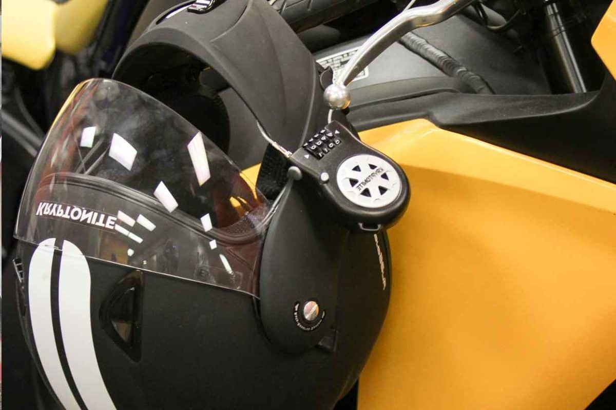 How to secure your helmet to your motorcycle with a holder.