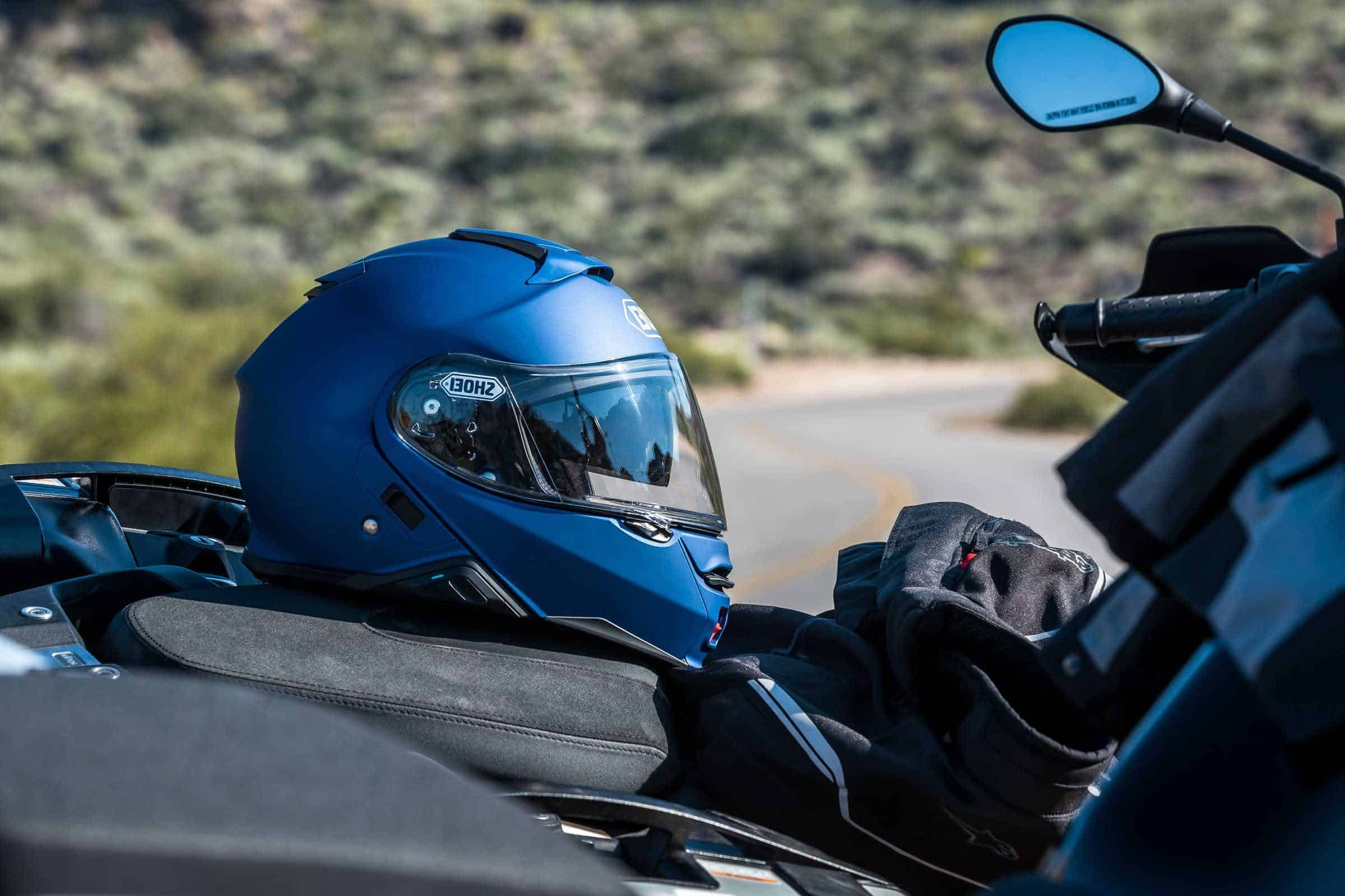 How to lock your helmet to your motorcycle.