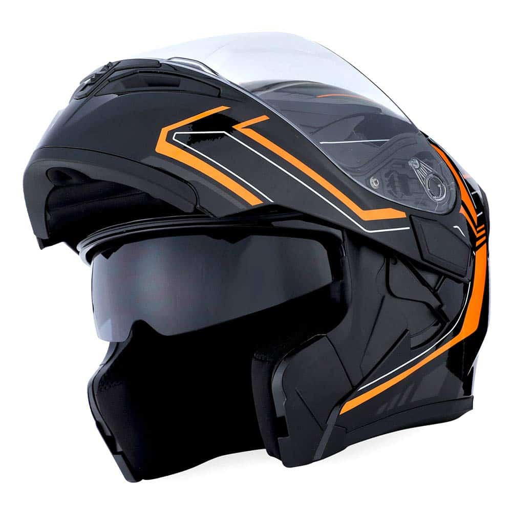 The 1Storm Modular Open Face Helmet is for hardcore motorcyclists